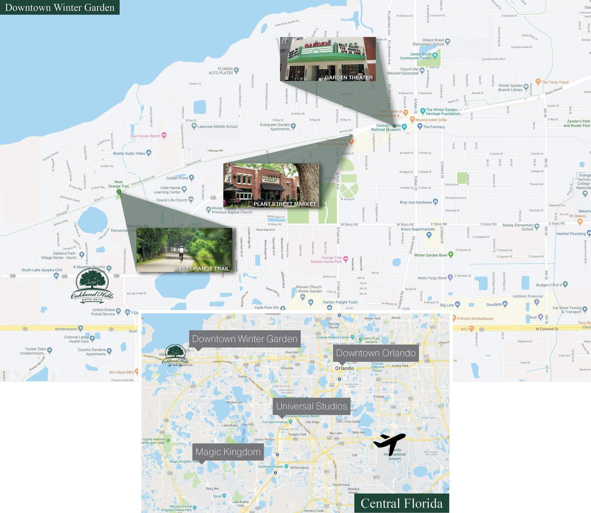 Oakland Hills Area Map