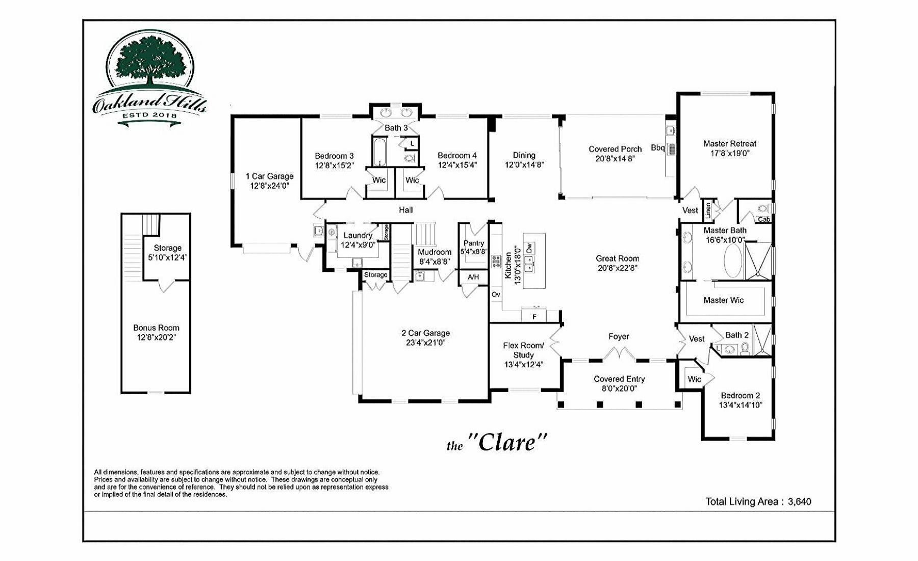 The Clare - Floor Plan